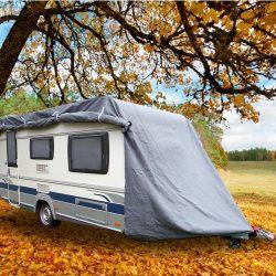 Abdeckplane für Wohnwagen oder Wohnmobile Größe S