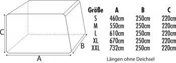 Abdeckplane für Wohnwagen oder Wohnmobile Größe L