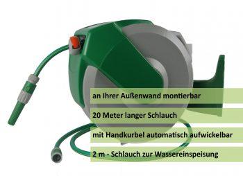 Automatischer Wand-Schlauchaufroller 20m